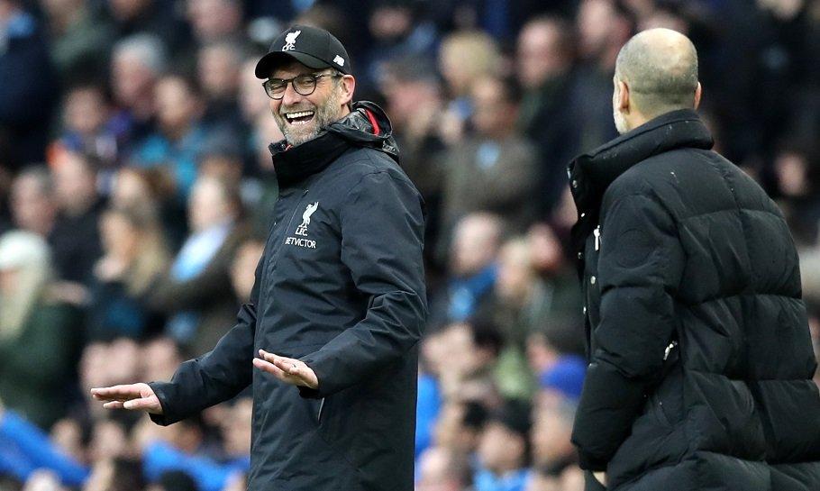 Pep Klopp Liverpool Manchester City