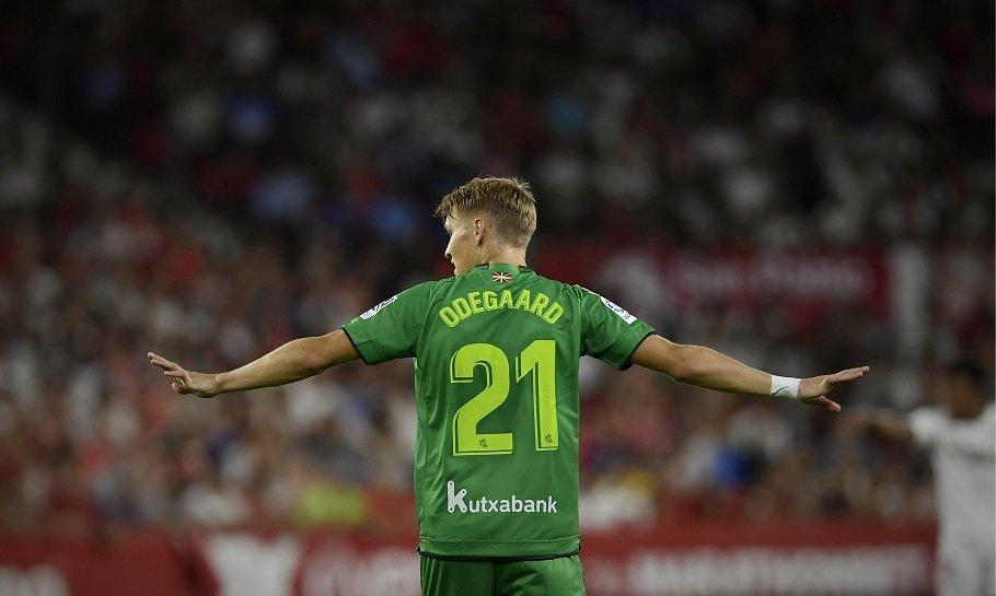 Martin Ødegaard Real Sociedad - Nordiske spillerei  de fem største ligaene